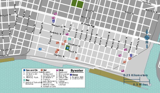 Bywater district map.